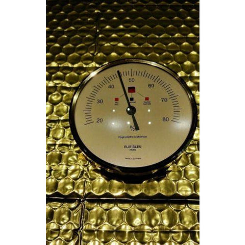 Elie Bleu Original Replacement Hygrometer 3.5 diameter Gold  finish