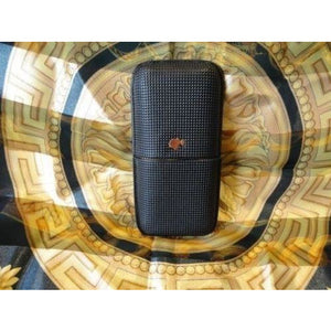 Cohiba Black & Gold Leather Case