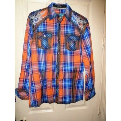 Men's Roar Signature Long  Sleeve Button Up Shirt Size Medium