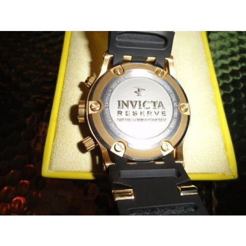 Mens Invicta 6905 Reserve Subaqua Specialty Chronograph Gold Plated Swiss Watch