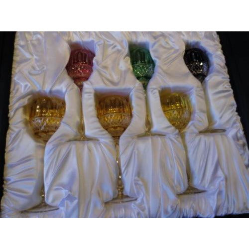 Faberge Mixed  Xenia Goblet  Glasses set of 6  new in the original box