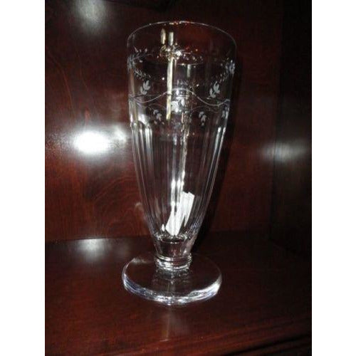 "Faberge Luxembourg Collection  Crystal 13"" Vase NIB"