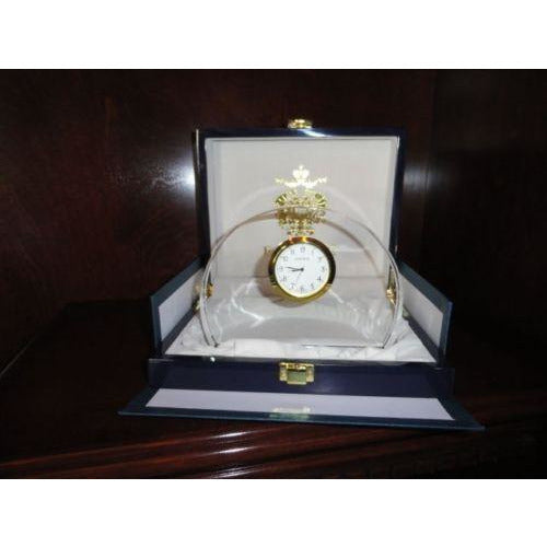 Faberge Half Moon Crystal  Clock new in the original box Style 631116