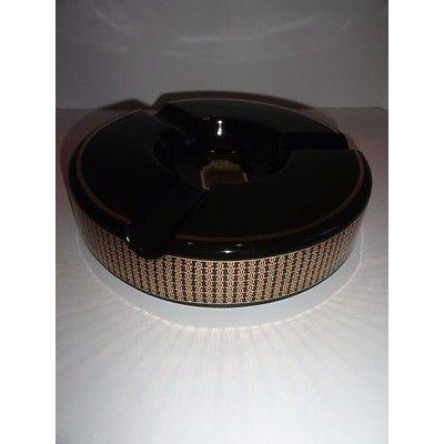 Trinidad Black and Gold Ceramic Large Ashtray NIB