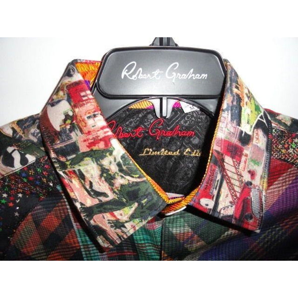Robert Graham Classic Fit ODD MAN OUT Limited Edition Sport Shirt M