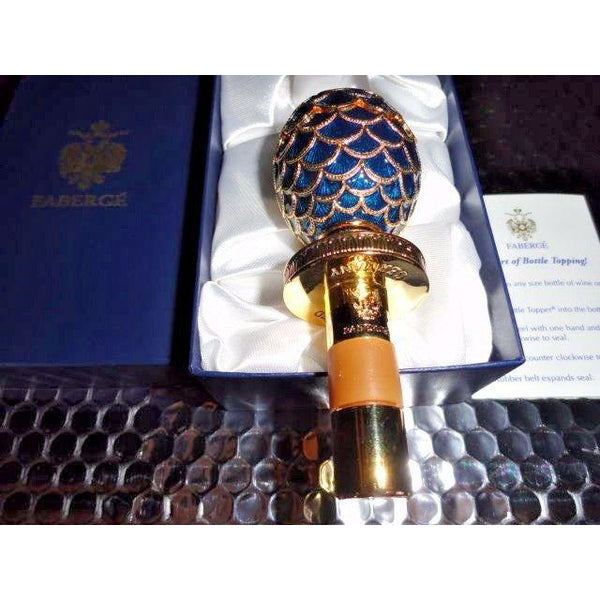 Faberge Blue  Coronation  Bottle Stopper