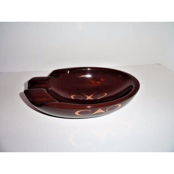CAO Brown  3 Cigar Bowl Ashtray -- BRAND NEW IN BOX