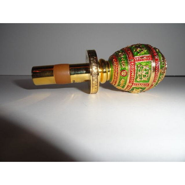 Faberge  Gold Coronation  Bottle Stopper