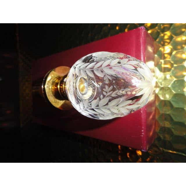 Faberge Clear Etched  Crystal  Bottle Stopper