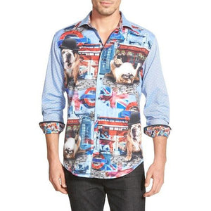 Robert Graham English Bulldog Sport Shirt