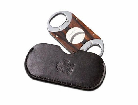 "Brizard and Co. The ""Double Guillotine"" Cigar Cutter - Sunrise Black and Macassar Ebony"