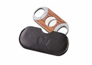 "Brizard and Co. The ""Double Guillotine"" Cigar Cutter - Sunrise Black and Rosewood"