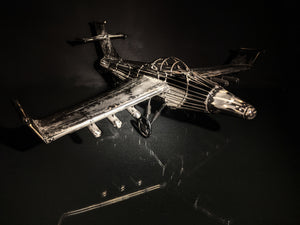 Airplane Metal Art Sculpture