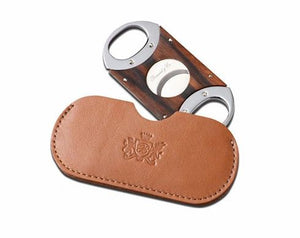 "Brizard and Co. The ""Double Guillotine"" Cigar Cutter - Sunrise Tan and Macassar Ebony"
