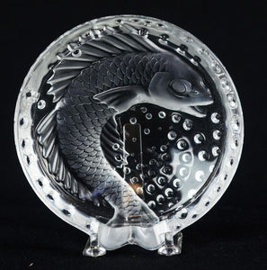 Lalique Crystal Koi Ashtray