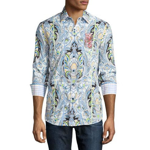 Robert Graham Medium-sized Shirt New Medium-sized