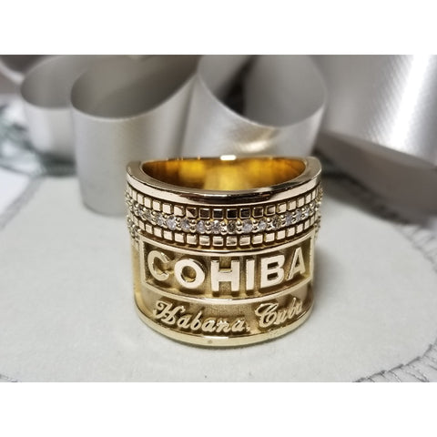 Cohiba Gold Ring with Diamonds