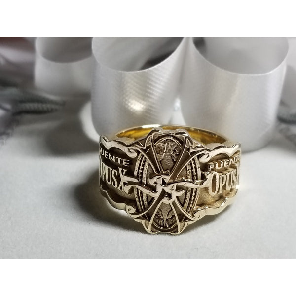 OpusX Custom Logo Gold 14 K  Ring