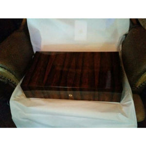 Ellie blue green ebony humidor 110 count