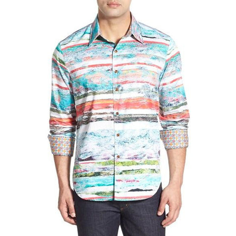 "Robert Graham "" Bendouins"" Classic Fit Sport Shirt Medium-sized New"