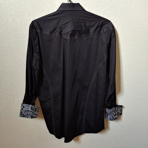 Envy Couture | Slim Fit | Black Longsleeve Buttondown Casual Shirt