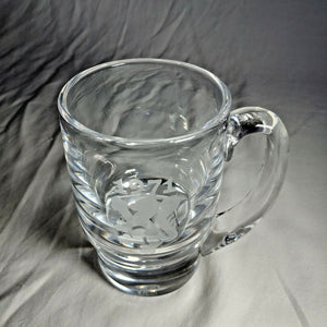 KOSTA BODA ART GLASS CRYSTAL MUG VICKE LINDSTRAND ETCHED 1971