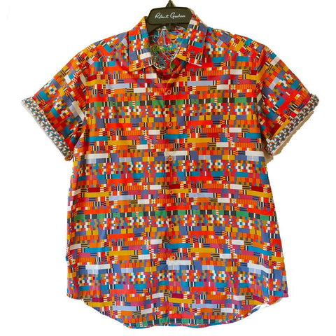 Robert Graham Tribal Short Sleeve Printed Sport Shirt Classic Fit