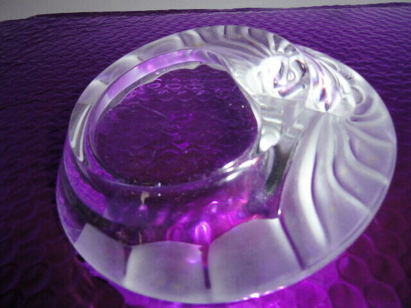 Lalique Crystal Lions Head Ashtray
