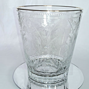 FABERGE | CRYSTAL CHAMPAGNE ICE BUCKET CHILLER | SPECIAL EDITION 22KT
