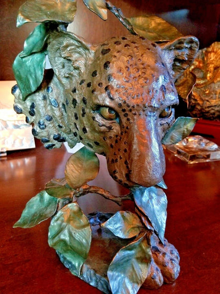 Mark Hopkins Night of the Hunter Painted Limited Edition Bronze Sculpture
