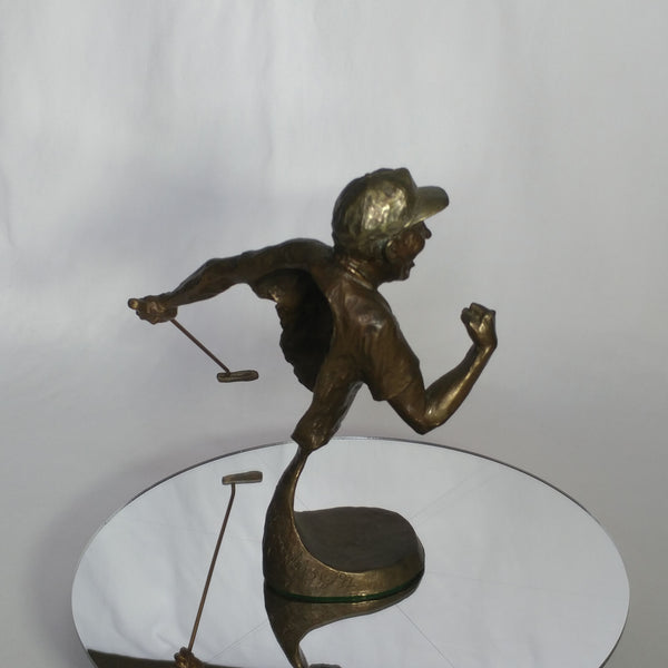 "Mark Hopkins Limited Edition Bronze Sculpture: ""Yes!"""