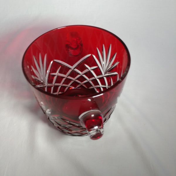 FABERGE RUBY RED ICE BUCKET IN THE ORIGINAL PRESENTATION BOX