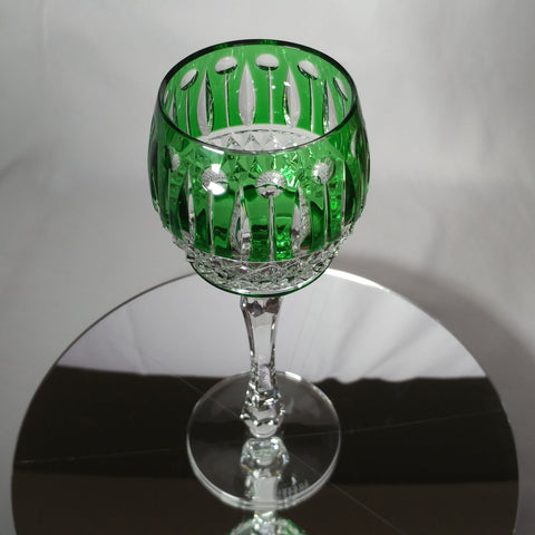 FABERGE XENIA IMPERIAL EMERALD GREEN  CRYSTAL GOBLET | SINGLE