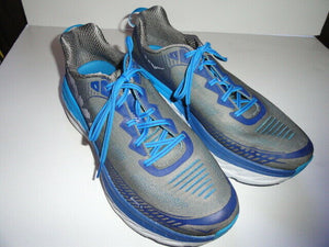 "HOKA ONE ONE Bondi 5 Men's Athletic Shoes  Grey / Blue 13"" M Size"