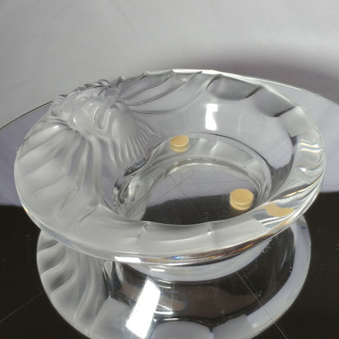 "Lalique | Crystal ""Tete De Lion"" Ashtray"