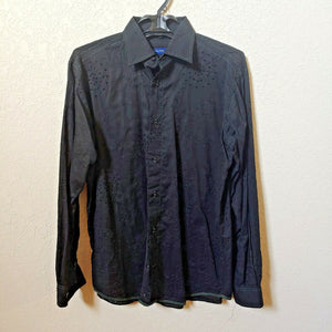 Georg Roth | Los Angeles | Men's Black Long sleeve Button down Casual Shirt