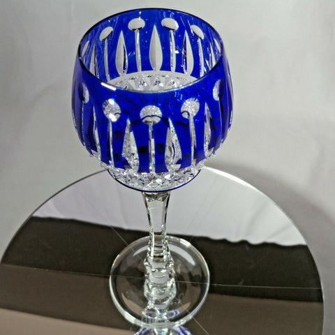 FABERGE  XENIA IMPERIAL COBALT BLUE  CRYSTAL GOBLET | SINGLE