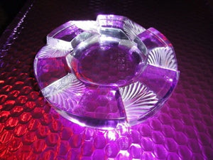 Lalique French Clear Crystal Art Deco Ashtray new in box