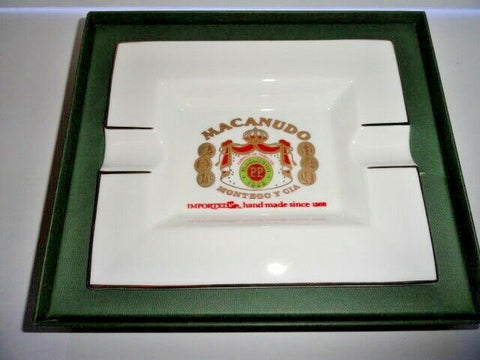 macanudo fine bone china ashtray without box