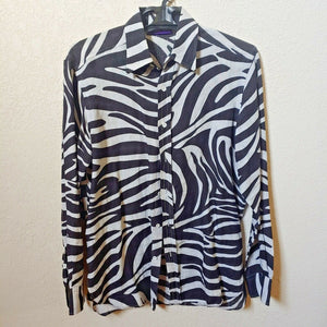 Ralph Lauren | Zebra Print Men's Long sleeve Shirt | Large