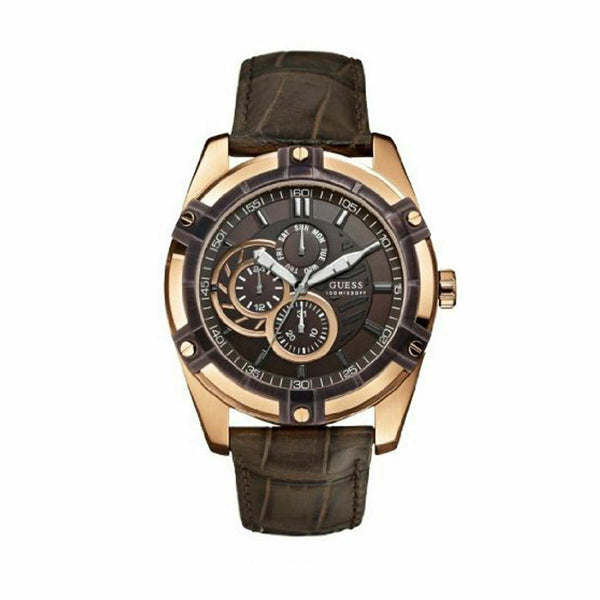 Baldinini | Men's Chronograph Leather Brown/Rose Gold Classy Watch | BD-34