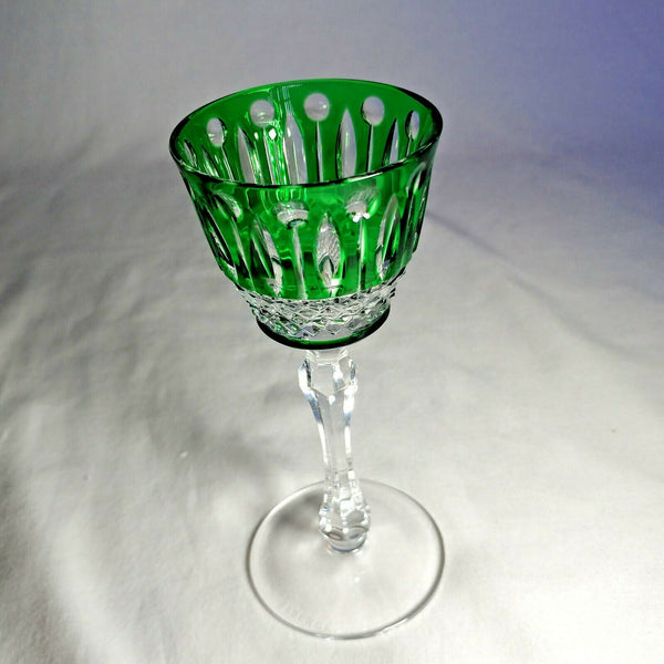 Faberge Xenia Emerald Green Crystal Glass