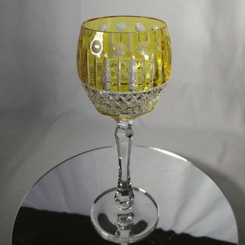 FABERGE | YELLOW XENIA IMPERIAL YELLOW GOLD CRYSTAL GOBLET | SINGLE