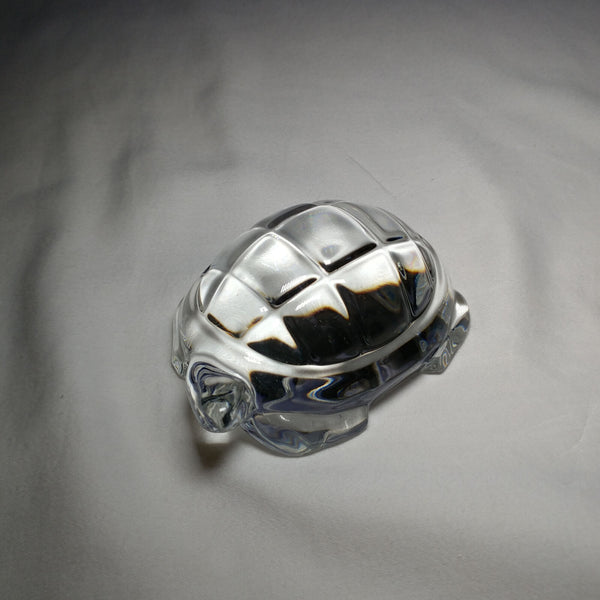Baccarat Crystal Turtle. Spectacular Heavyweight Beauty