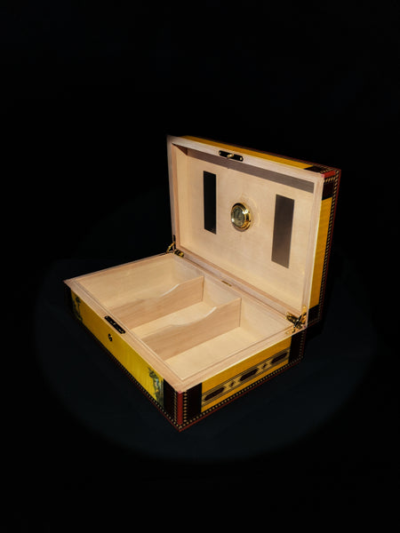 Elie Bleu Alba Gold Yellow  Humidor 110 count