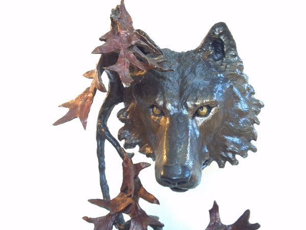 "Mark Hopkins North Woods Bronze Sculpture 18.5"" Tall"