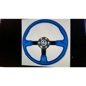 "Gussi Blue Steering Wheel 14"" Diameter"