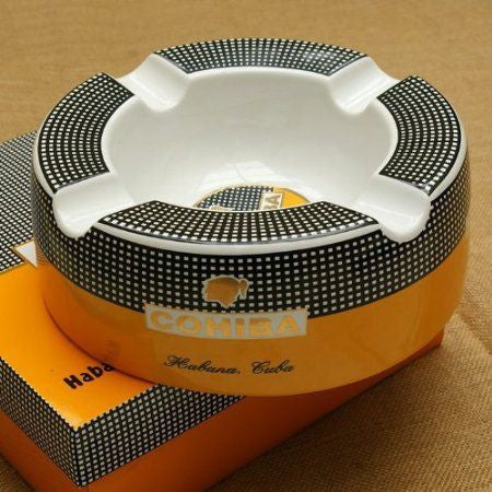 Cohiba Ceramic Ashtray and Case