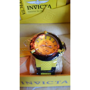 Invicta 17116 Yellow Band And Face New In The Box