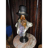 """  ONE PUFF AT A TIME  "" CIGAR SMOKING BRONZE SCULPTURE LIFESIZE"